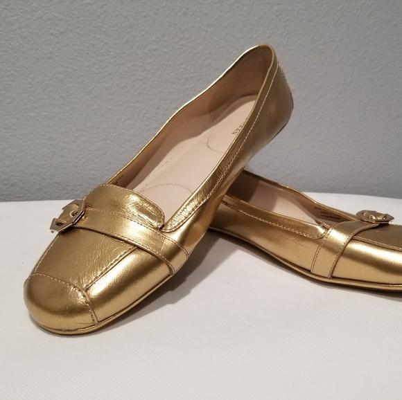 Gold Sz 105 Flats Patent Leather | Poshmark